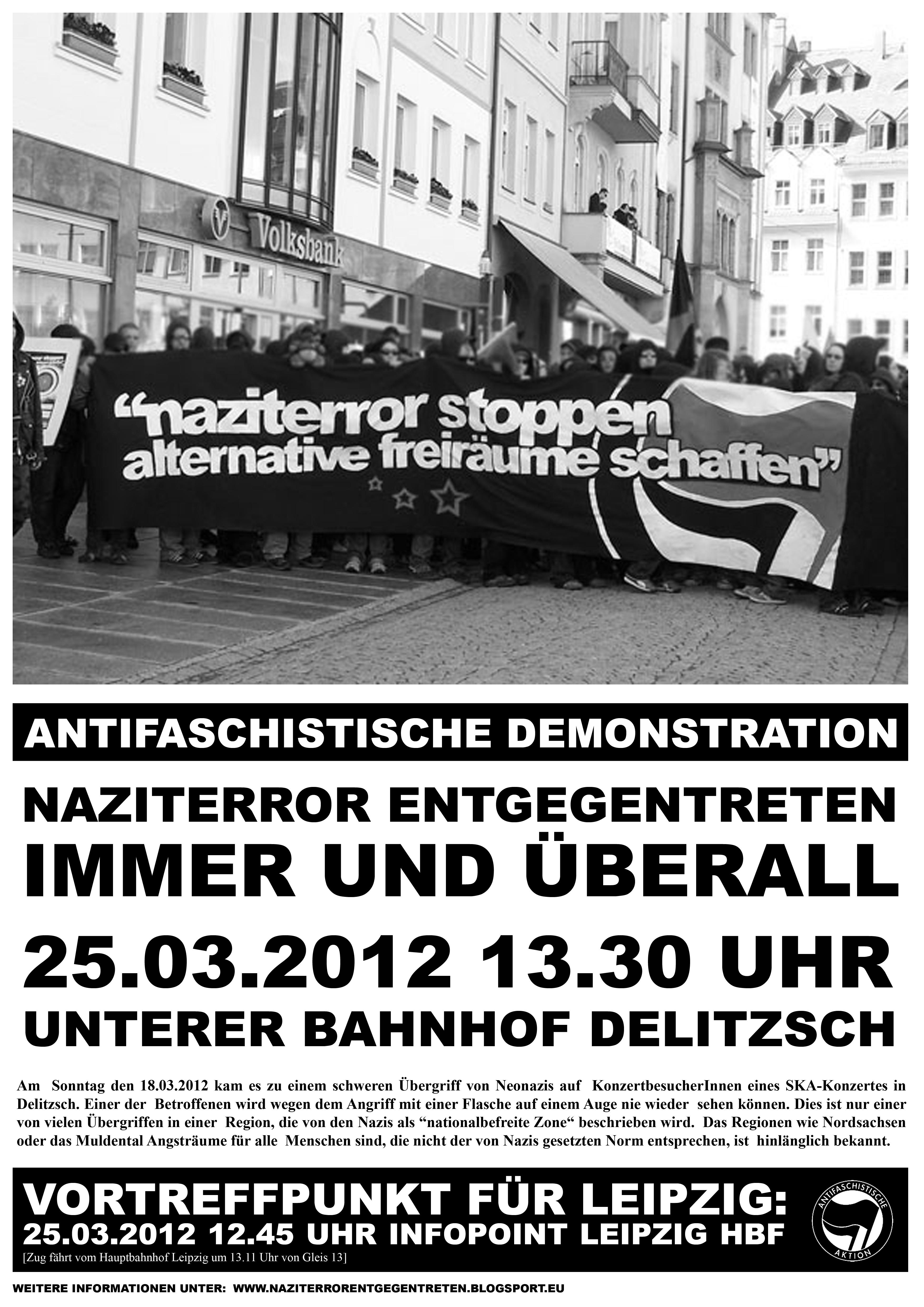 Antifa Demo Delitzsch